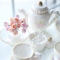 Pastillage Tea Set decorated cake