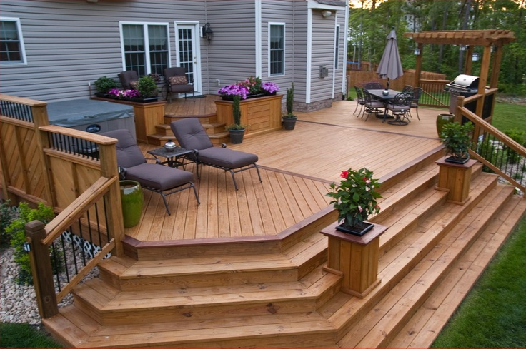 Selection of Styles For Your Wooden Outdoor Steps - All ... on Backyard Patio Steps id=32781