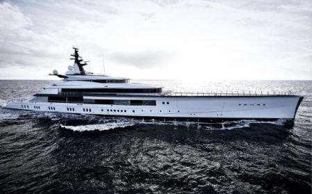 Eugenia and Jerry Jones' 357-feet-long yacht.
