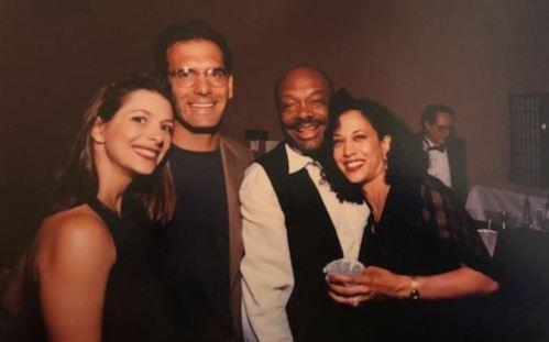 Kamala Harris with her ex-boyfriend, Willie Brown and their friends.