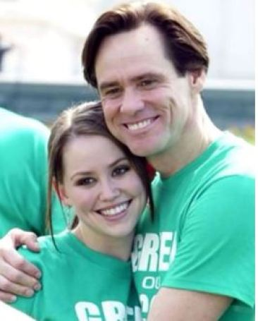 Jim Carrey with his daughter, Jean Erin Carrey