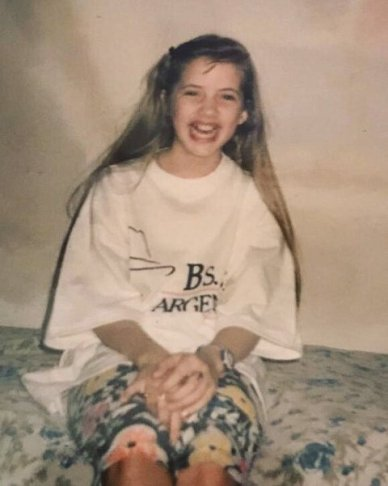 Julie Gonzalo during her childhood days