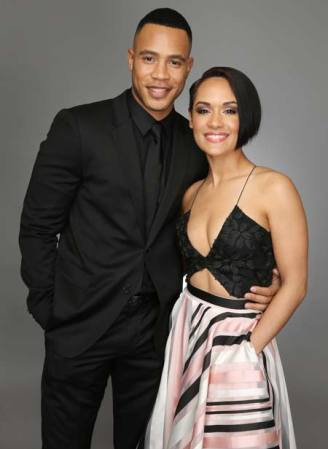 Grace Gealey with her current husband, Trai Byers