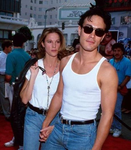"Eliza ""Lisa"" Hutton and her late fiance, Brandon Lee"