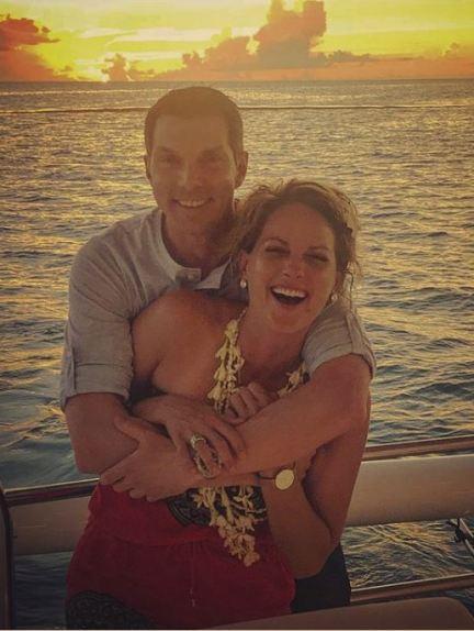 Jamie Yuccas and her boyfriend