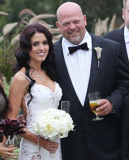 Deanna Burditt on the day of her wedding with Rick Harrison