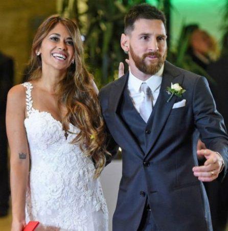 Lionel Messi &Antonella Roccuzzo on their Wedding