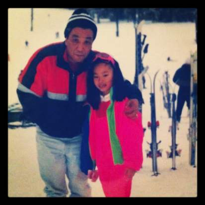 Jamie Chung and her father