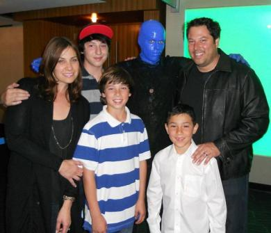 Gregory Grunberg with his Wife and Children