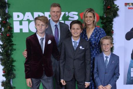 Viveca Paulin & Will Ferrell with their children