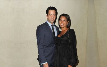 Troy Garity with his wife Simone Bent photo