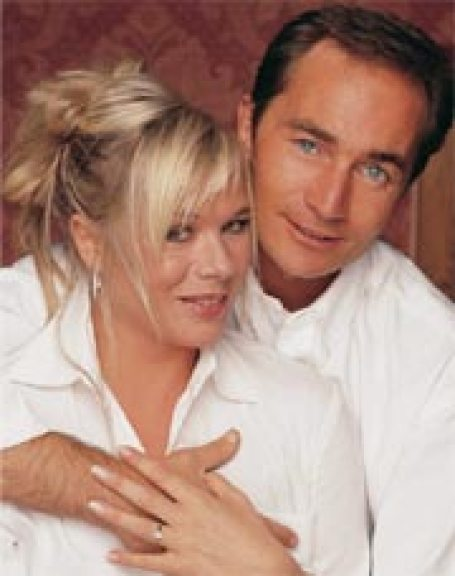 Letitia Dean with her ex-husband, Jason Pethers photo