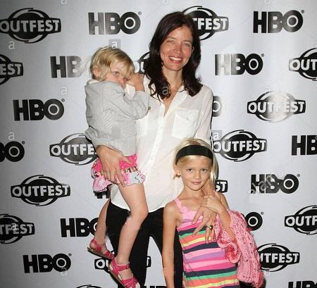 Jamie Babbit with her kids