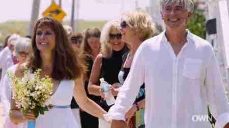 Mel Harris' sixth wedding with Bob Brush.
