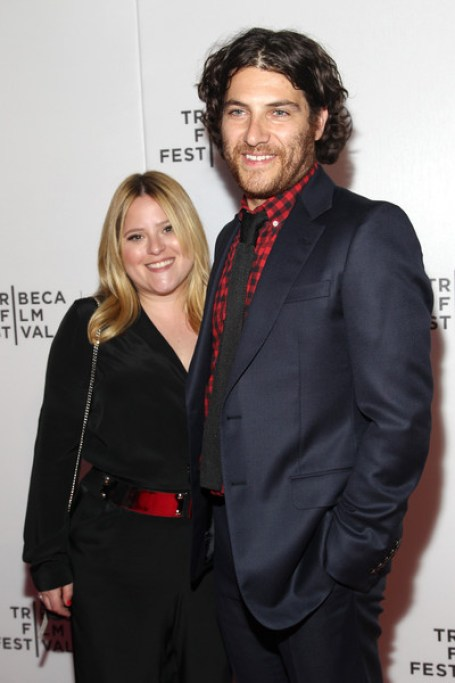 Adam Pally with his wife Daniella Liben attends the premiere of Slow Learnersduring the 2015 Tribeca Film Festival at Spring Studio on 20th April 2015, in New York City.