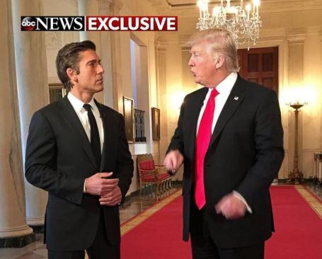 David Muir and Donald Trump.