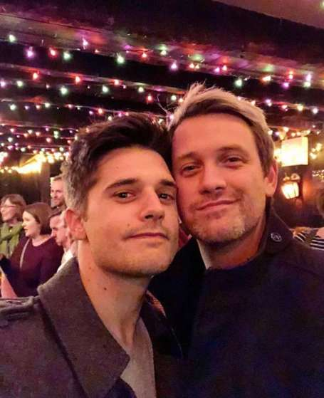 Andy Mientus with his husband, Michael Arden.