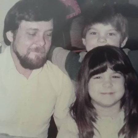 Vanessa Murdock with her dad and sibling