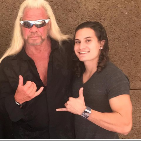 "Dakota with his grandfather, Duane ""Dog"" Chapman"