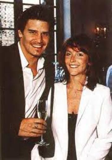 Ingrid Quinn with her ex-husband, David Boreanaz