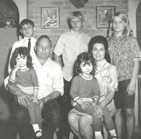Loretta Lynn with her husband, Oliver and their children.