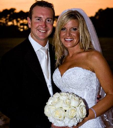 Kurt Busch and his wife Eva on their wedding