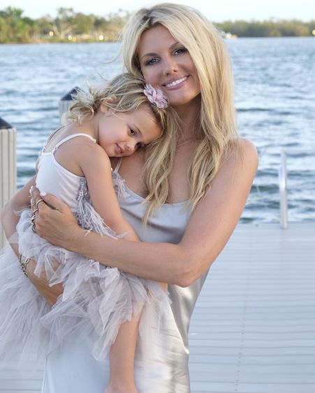 Courtney with her daughter