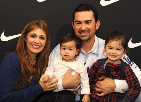 Betsy Gonzalez with her spouse and kids
