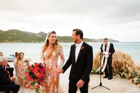 Kurt Busch with his wife in the weeding day