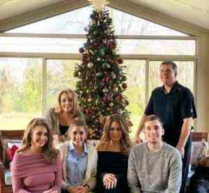 Stephanie Mead with her family in Christmas break