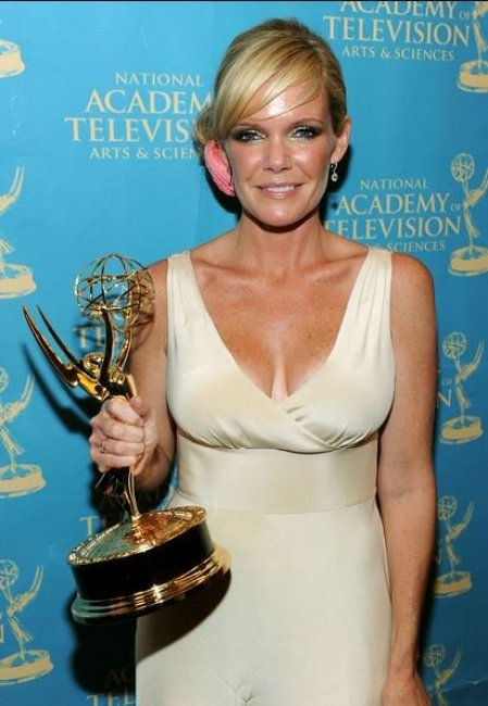 Maura West poses with the Outstanding Lead Actress Award in the press room at the 37th Annual Daytime Entertainment Emmy Awards held at the Las Vegas Hilton on 27th June 2010, in Las Vegas, Nevada.