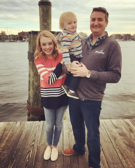 Sarah Westwood and her fiance and her son