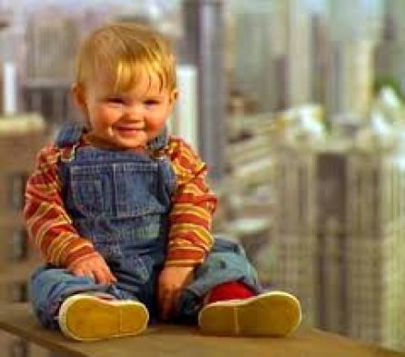 Joseph Worton's childhood photo while starring in Baby's Day Out