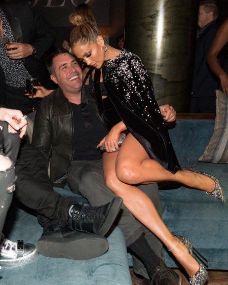 Mike with Jennifer Lopez