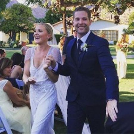 Kevin and Taylor on the day of their wedding