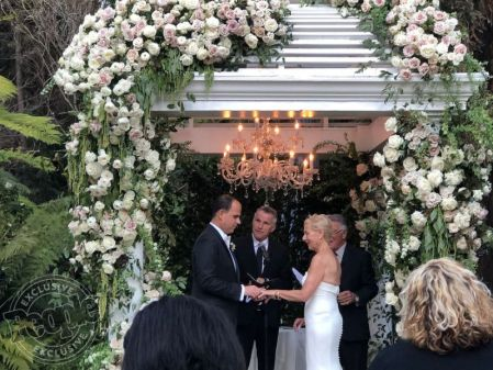Bobbi Raffel's and her husband Marcus Lemonis on their wedding day