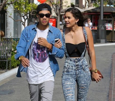 Roshon Fegan with his ex-girlfriend, Camia Marie