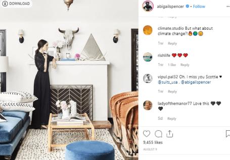 Abigail Spencer promte barnd through her instagram