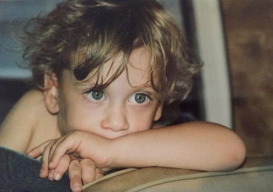 Childhood photo of Avi Kaplan.