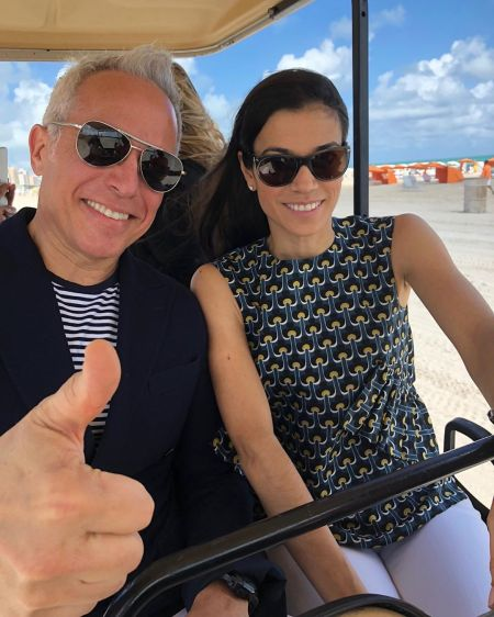 Margaret Anne Williams enjoying her vacation with her spouse, Geoffrey Zakarian in South Beach Seafood Festival.