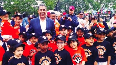 Adriano with children