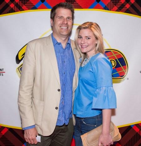 Kylee Evans with her husband