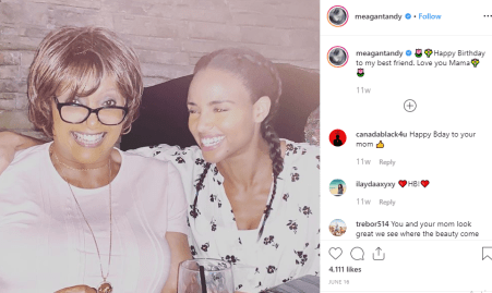 Meagan Tandy wished her mother on her birthday