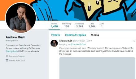 Andrew Bush twitter account