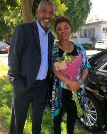 Barbara Lee with her son, Tony Lee