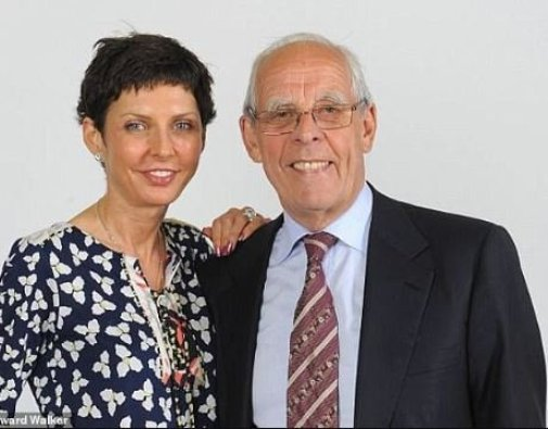 Denise Coates with her father, Peter Coates