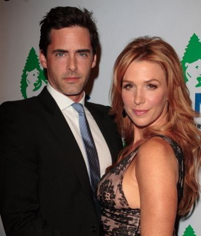 Poppy Montgomery with her former partner, Adam Kaufman
