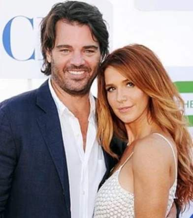 Shawn Sanford with his wife, Poppy Montgomery