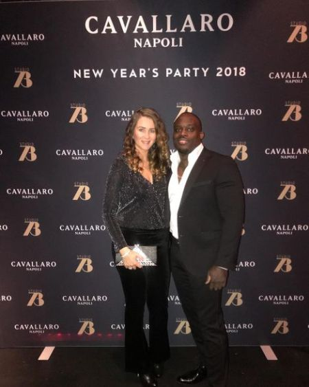 Melvin Manhoef with his wife