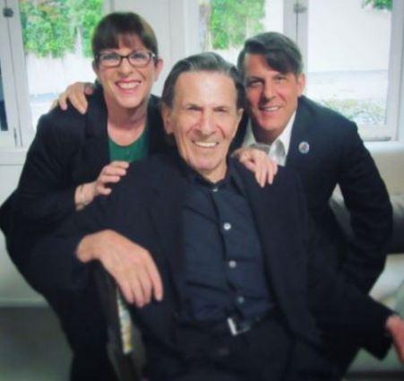 Adam Nimoy with his late father, Leonard Nimoy and sister, Julie Nimoy